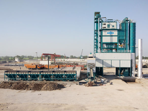 Aimix asphalt plant set up in Pakistan