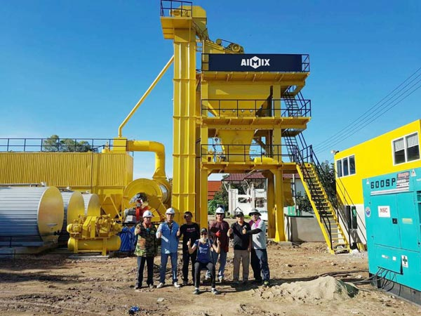 Aimix asphalt plant set up in Thailand
