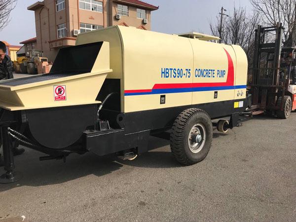 Aimix concrete pump sent to Korea