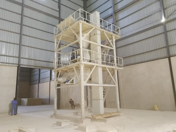 Aimix dry mortar plant set up in Zambia 1