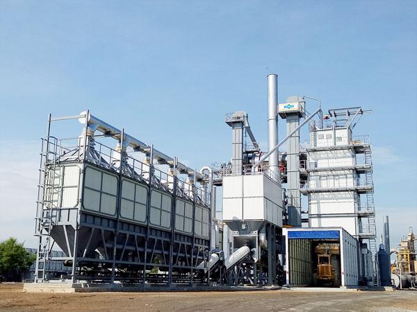 Aimix hot mix asphalt plant set up in Thailand