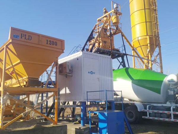 Aimix concrete plant set in Uzbekistan 1