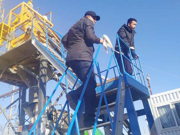 Aimix concrete plant set in Uzbekistan 2