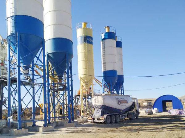 Aimix concrete plant set in Uzbekistan 3