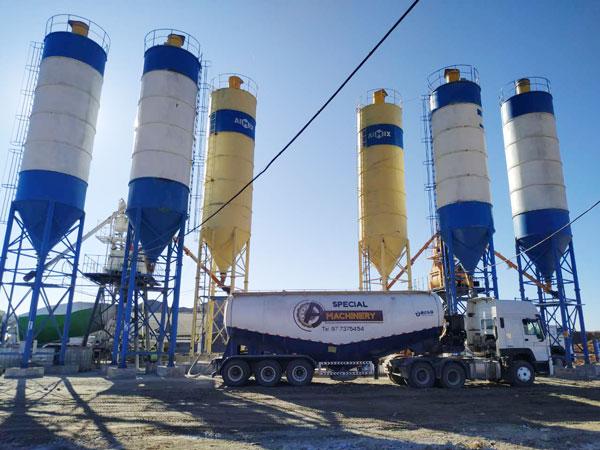 Aimix concrete plant set in Uzbekistan 4