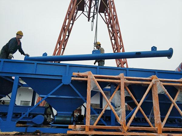 Aimix concrete plant sent to Myanmar 1