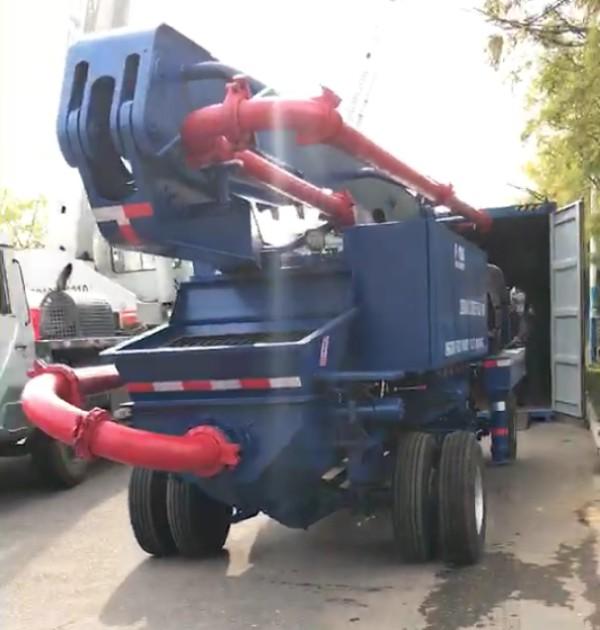 Aimix boom concrete pump delivery