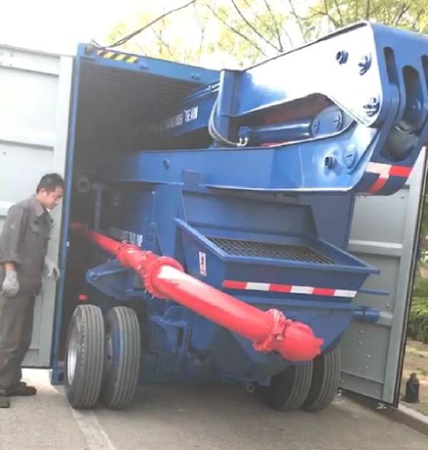 Aimix boom pump delivery