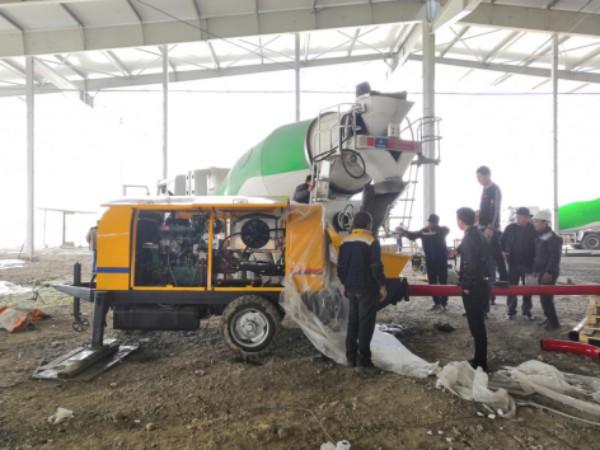 Aimix concrete pump exported