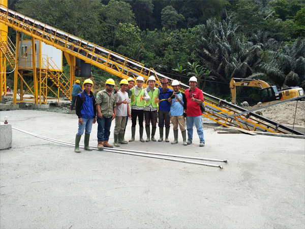 Aimix dry mix concrete plant install in Indonesia 2