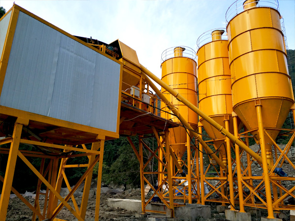 Aimix dry mix concrete plant install in Indonesia 3