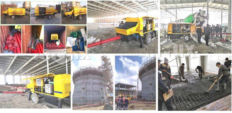 AIMIX mini concrete pump exported