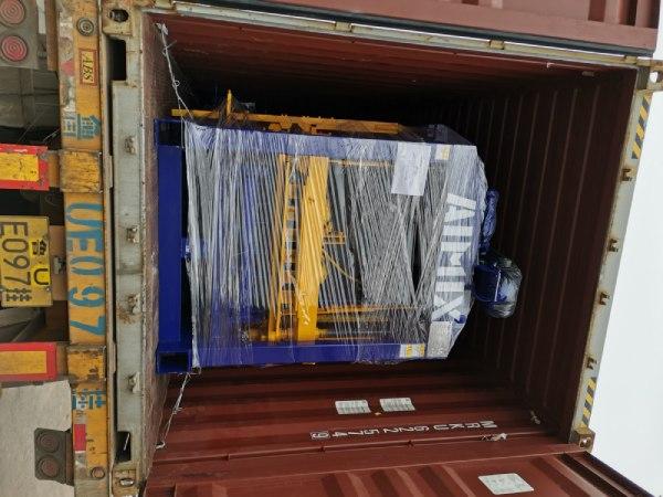 Aimix block machine sent to Bangladesh 2