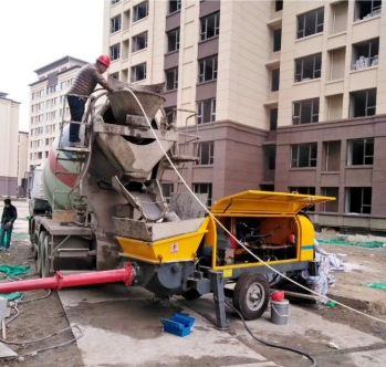 Aimix concrete pump in Indonesia 2