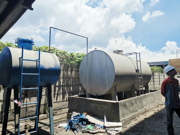Aimix tile adhesive plant in Indonesia