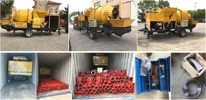 aimix concrete mixer pump exported