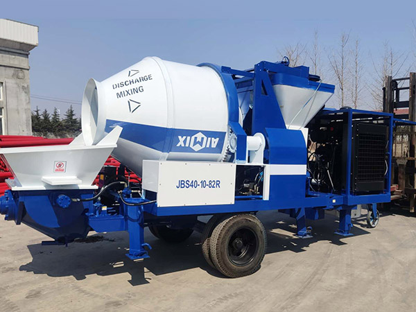 aimix concrete mixer pump sent to Indonesia 2
