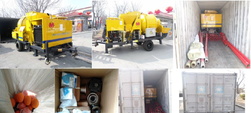 aimix concrete pump exported to Indonesia