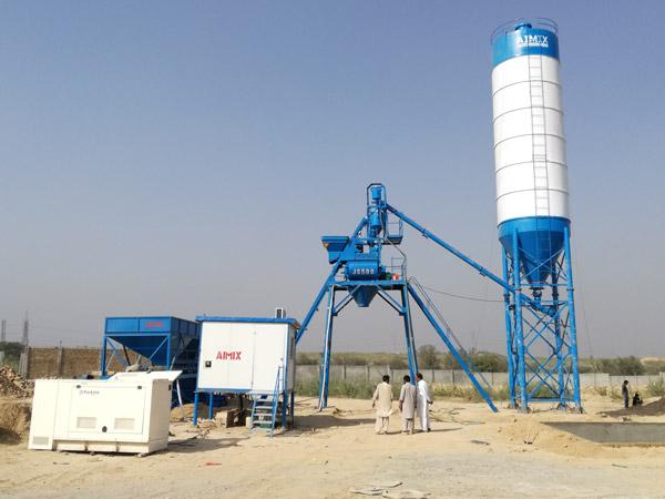 Aimix AJ25 concrete plant in Pakistan