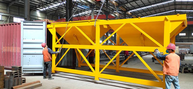 Aimix AJ60 concrete plant to Indonesia 1