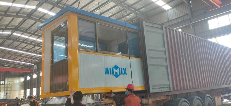 Aimix AJ60 concrete plant to Indonesia 3
