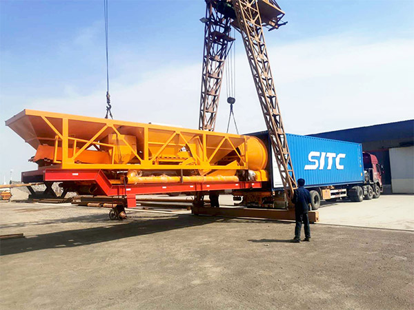 Aimix AJY-60 mobile concrete plant sent to Indonesia 1