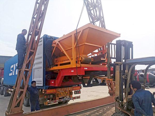 Aimix AJY-60 mobile concrete plant sent to Indonesia 2