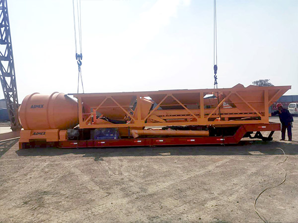 Aimix AJY-60 mobile concrete plant sent to Indonesia 3