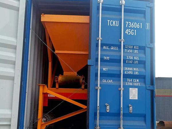 Aimix AJY-60 mobile concrete plant sent to Indonesia 4