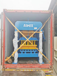 AIMIX concrete block machine sent to Jamaica 2