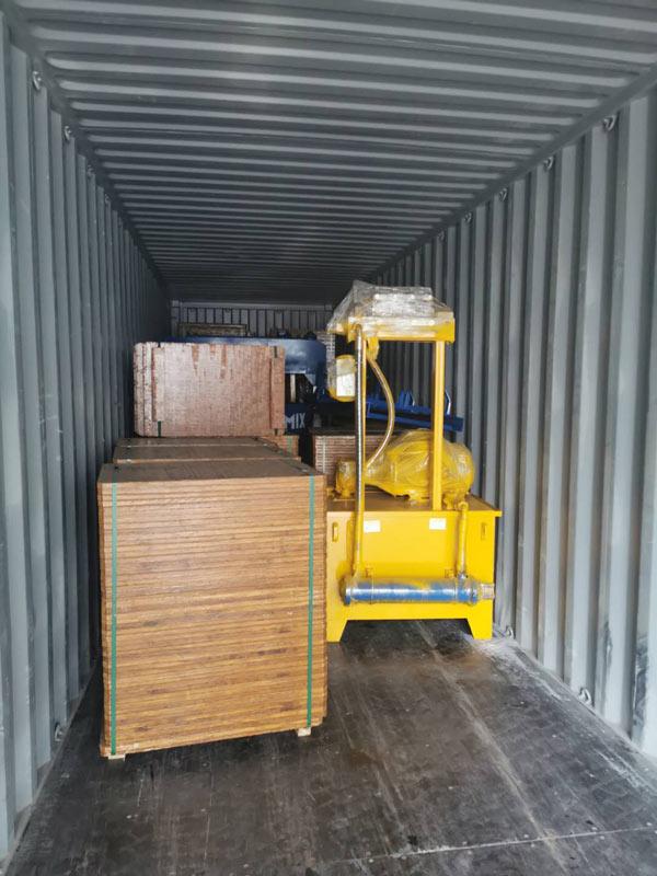 AIMIX concrete block machine sent to Jamaica 4