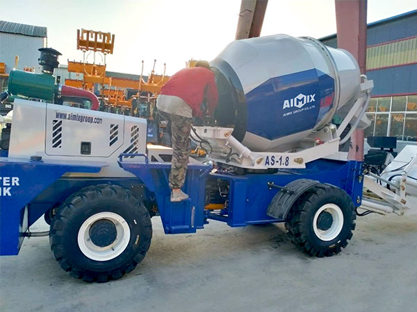 AIMIX self loading concrete mixer sent to Philippines 3