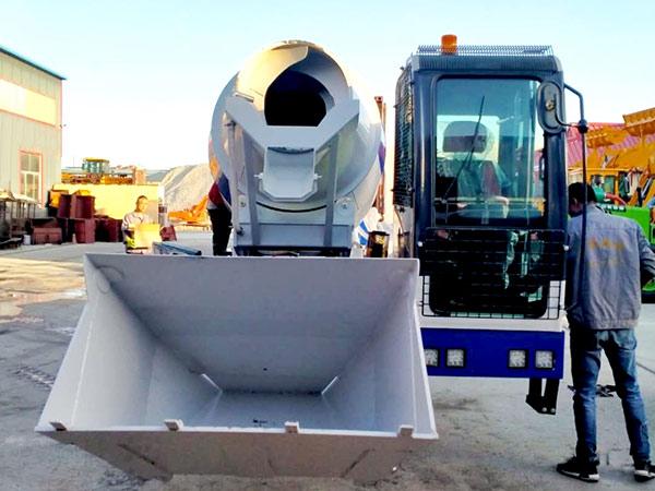AIMIX self loading concrete mixer sent to Philippines 6