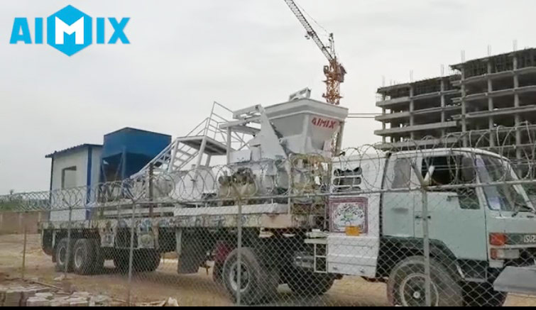 Aimix concrete plant loaded in Pakistan 2