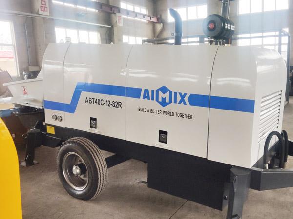 Aimix diesel concrete pump in Ukraine