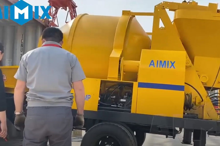 AIMIX concrete mixer pump sent to South Sudan