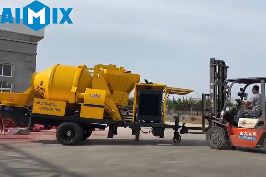 AIMIX concrete mixer with pump sent to South Sudan