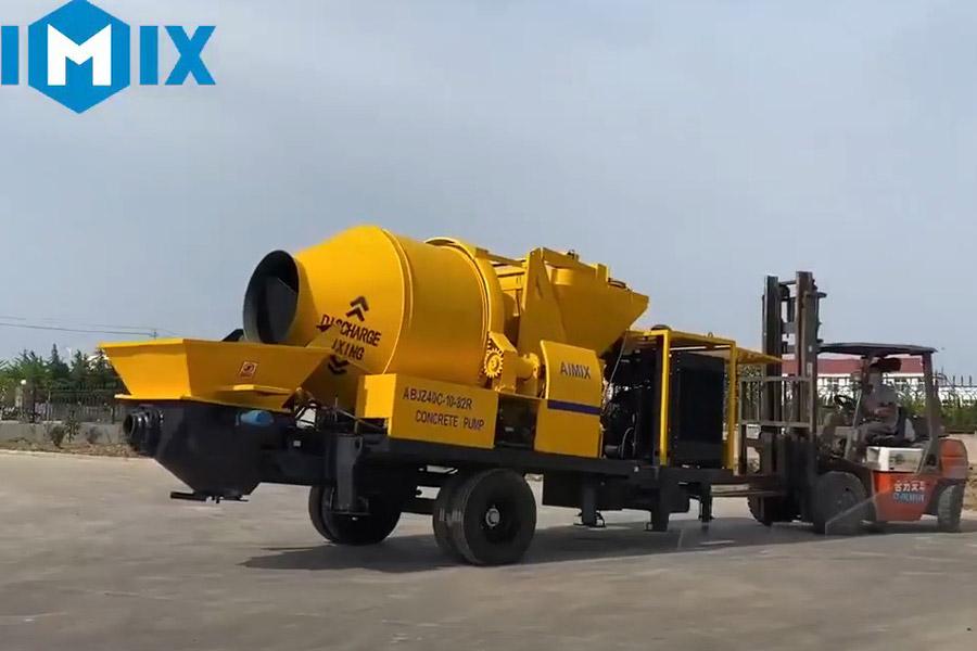 AIMIX concrete pump mixer sent to South Sudan