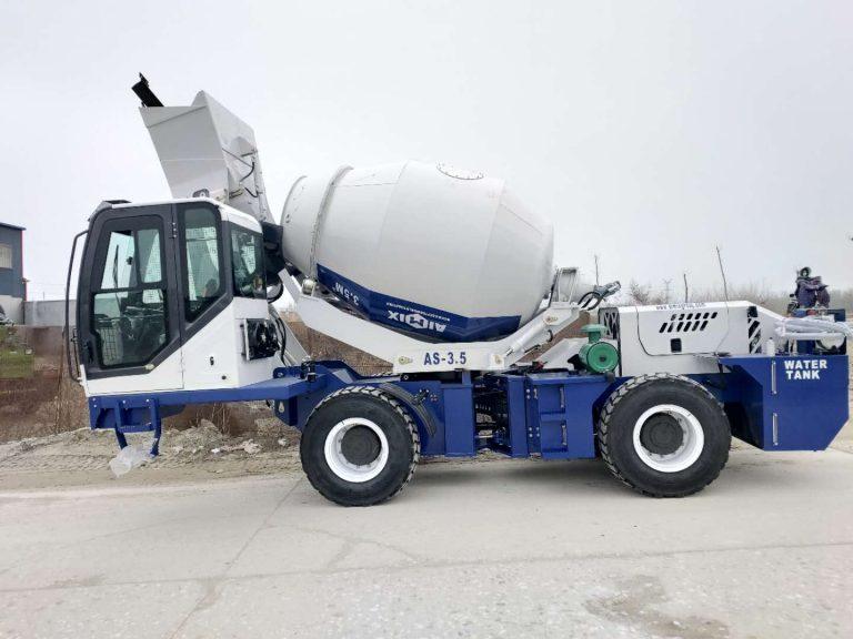 Aimix 3.5cubic self loading concrete mixer