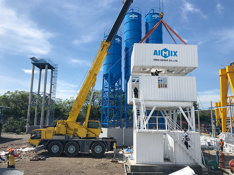 AIMIX Skip Hoist Type Modular Concrete Batching Plant