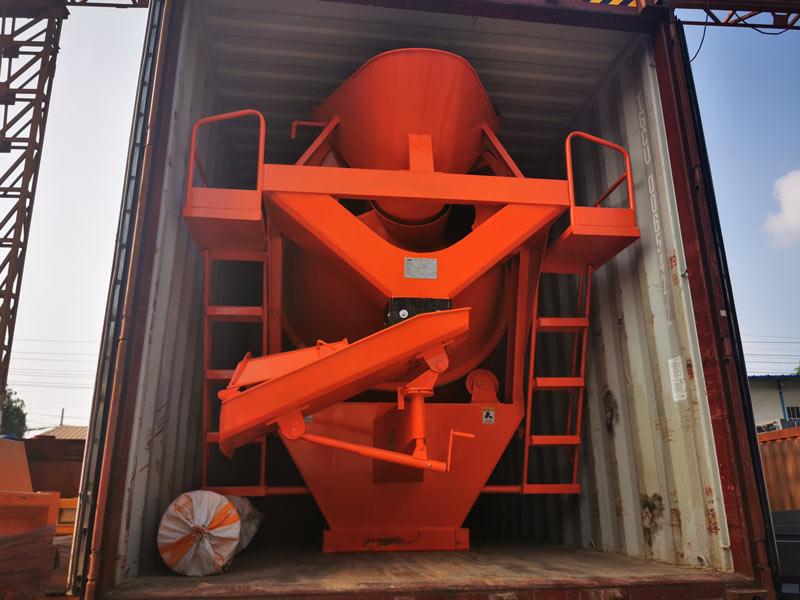 concrete mixer drum sent to Malaysia