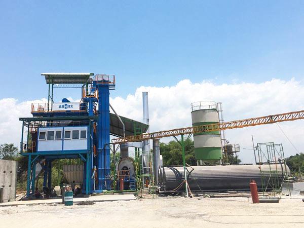 100t asphalt mixing plant Indonesia