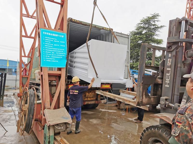 AIMIX AJY35 mobile batching plant to Bukhara Uzbekistan