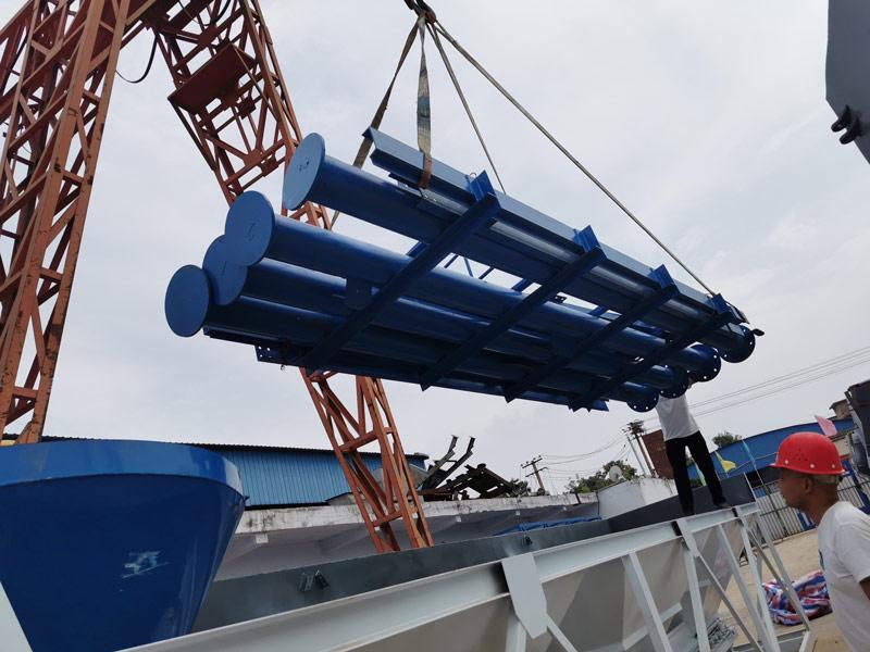 AIMIX concrete plant sent to Armenia