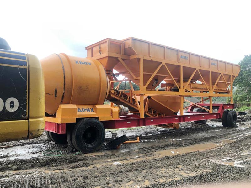 AIMIX mobile concrete plant installed in Indonesia