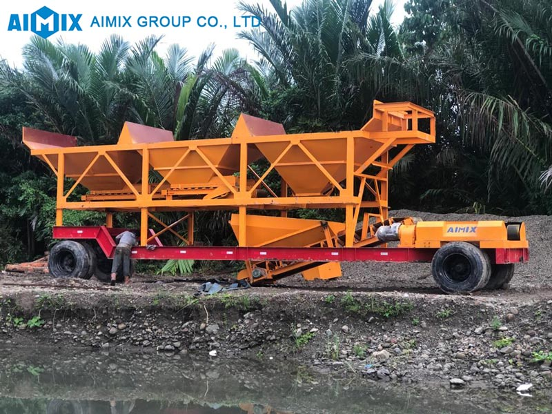AIMIX mobile plant installed in Indonesia
