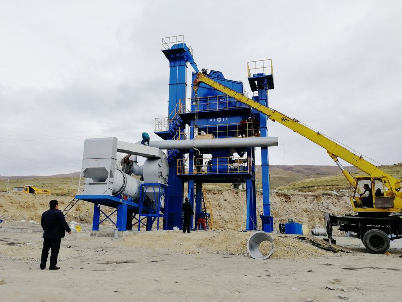 ALQ60 asphalt plant install in Kyrgyzatan