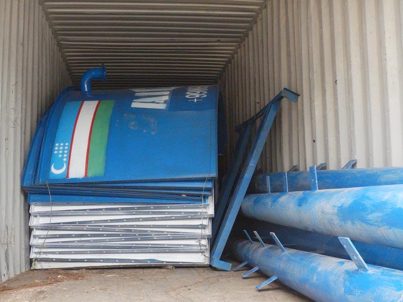 mobile batching plant sent to Bukhara Uzbekistan