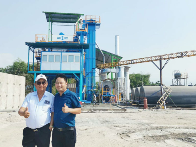 100t asphalt mixing plant in Probolingo Indonesia