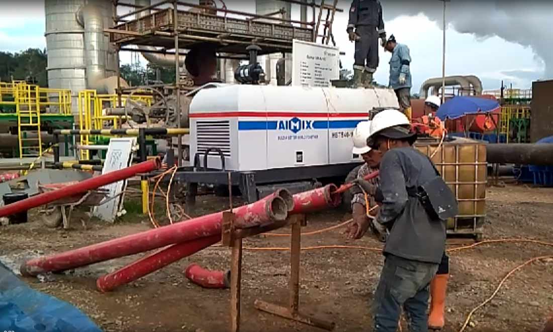 40 diesel concrete pump in Pekanbaru, Indonesia